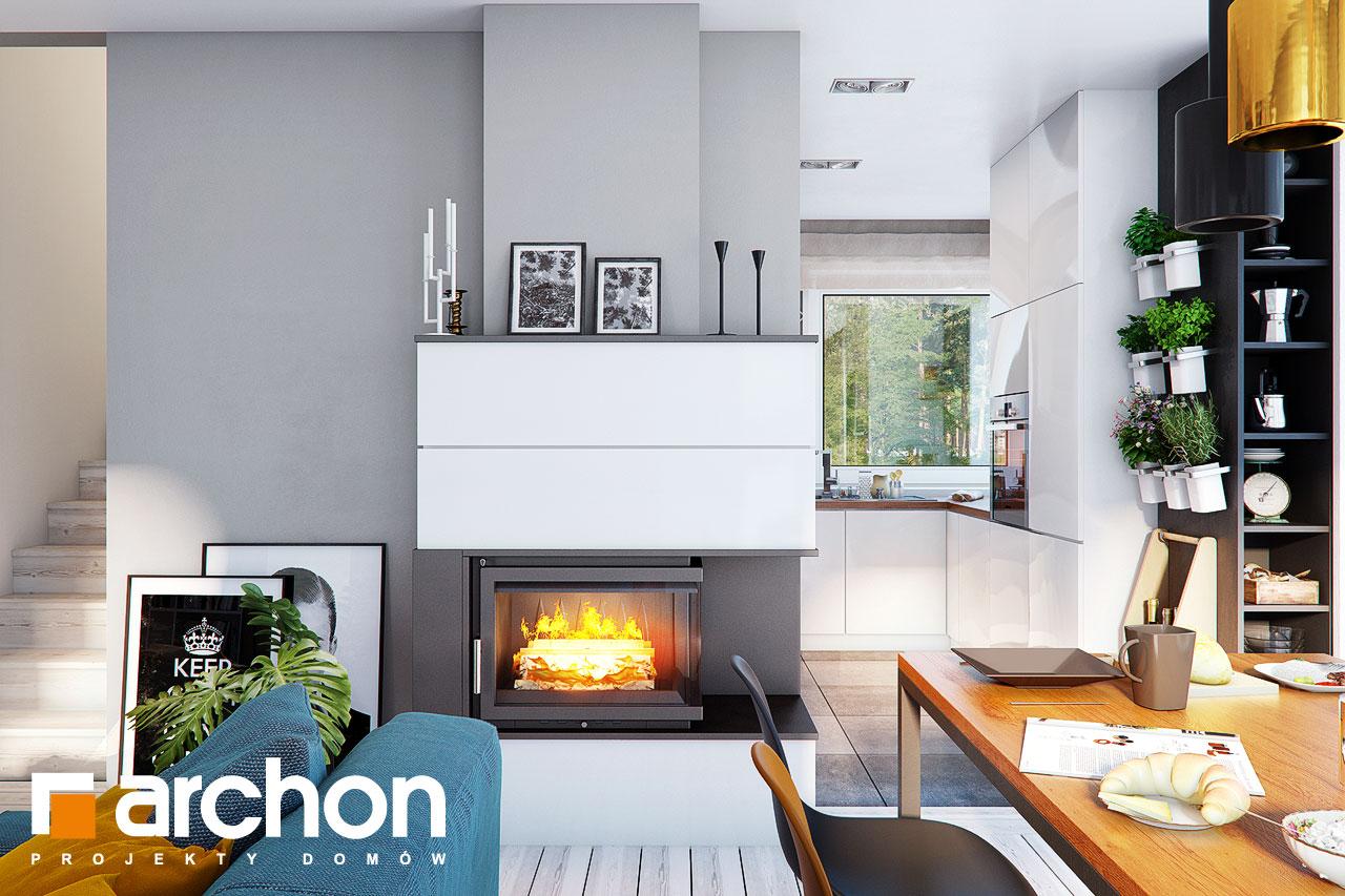Проект дома ARCHON+ Дом в журавках 7 дневная зона (визуализация 1 вид 4)