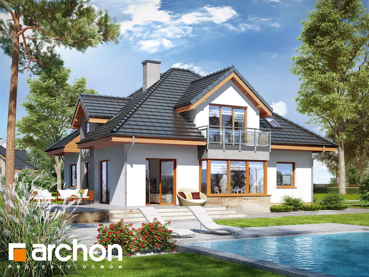 Проект будинку ARCHON+ Будинок в тим'яні 3 (Н) Вид 2