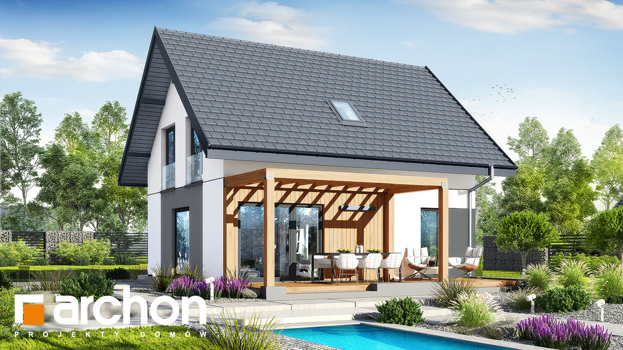 Проект будинку ARCHON+ Будинок в хлорофітумі 20
