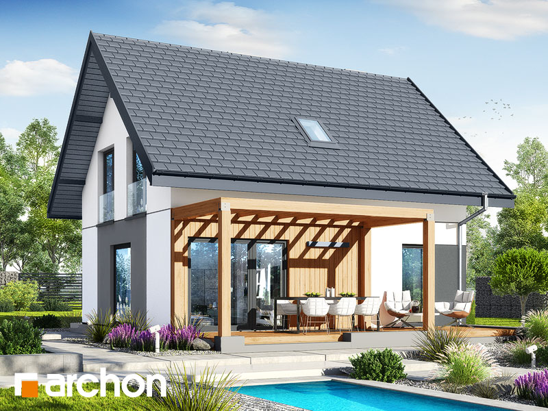 Проект будинку ARCHON+ Будинок в хлорофітумі 20 Вид 2