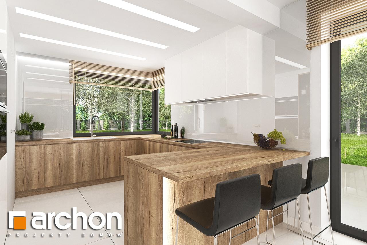 Проект дома ARCHON+ Дом в теллимах (Г) визуализация кухни 1 вид 1