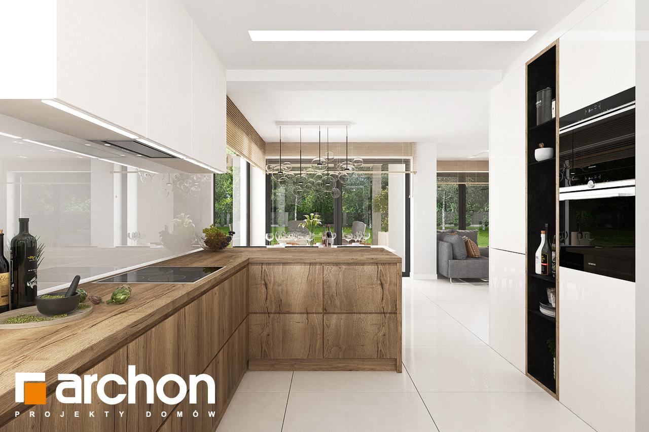 Проект дома ARCHON+ Дом в теллимах (Г) визуализация кухни 1 вид 2