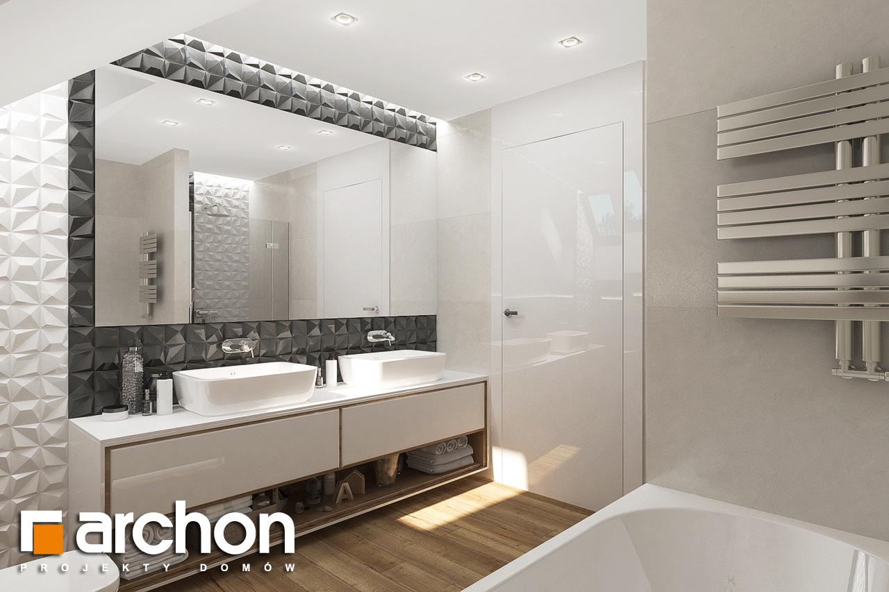 Проект будинку ARCHON+ Будинок у телімах (Г) візуалізація ванни (візуалізація 3 від 2)