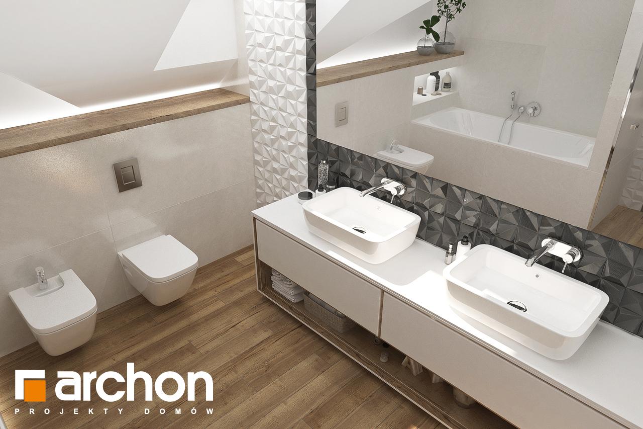 Проект будинку ARCHON+ Будинок у телімах (Г) візуалізація ванни (візуалізація 3 від 4)