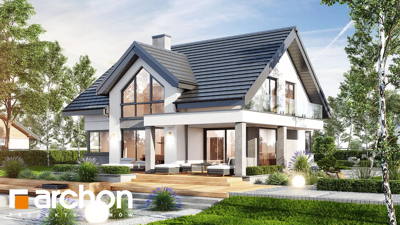 Проект будинку ARCHON+ Будинок у телімах (Г) Вид 2