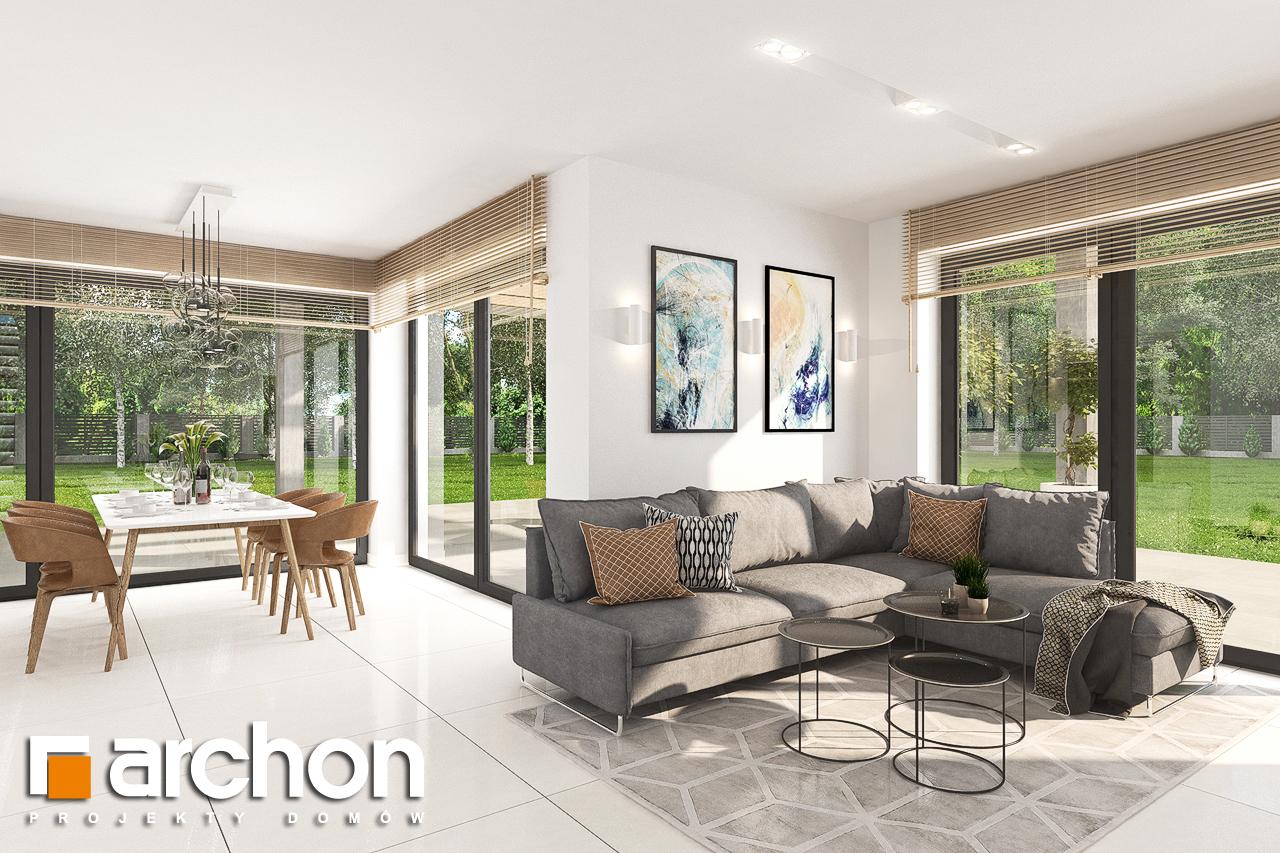 Проект будинку ARCHON+ Будинок у телімах (Г) денна зона (візуалізація 1 від 2)