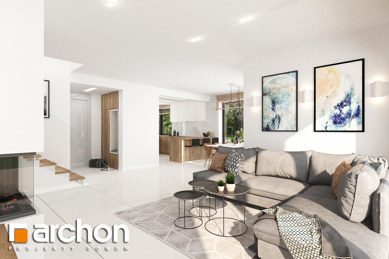 Проект будинку ARCHON+ Будинок у телімах (Г) денна зона (візуалізація 1 від 3)