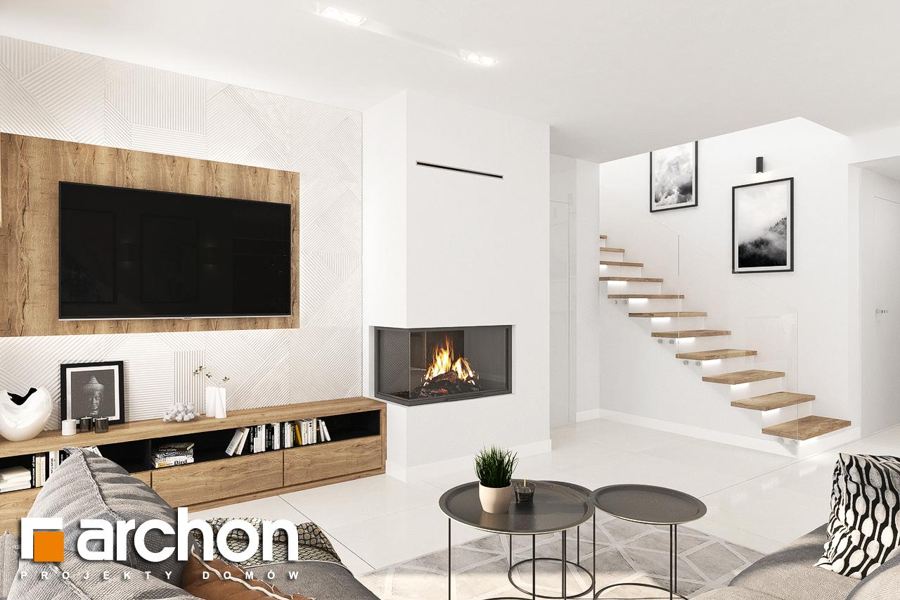 Проект будинку ARCHON+ Будинок у телімах (Г) денна зона (візуалізація 1 від 4)