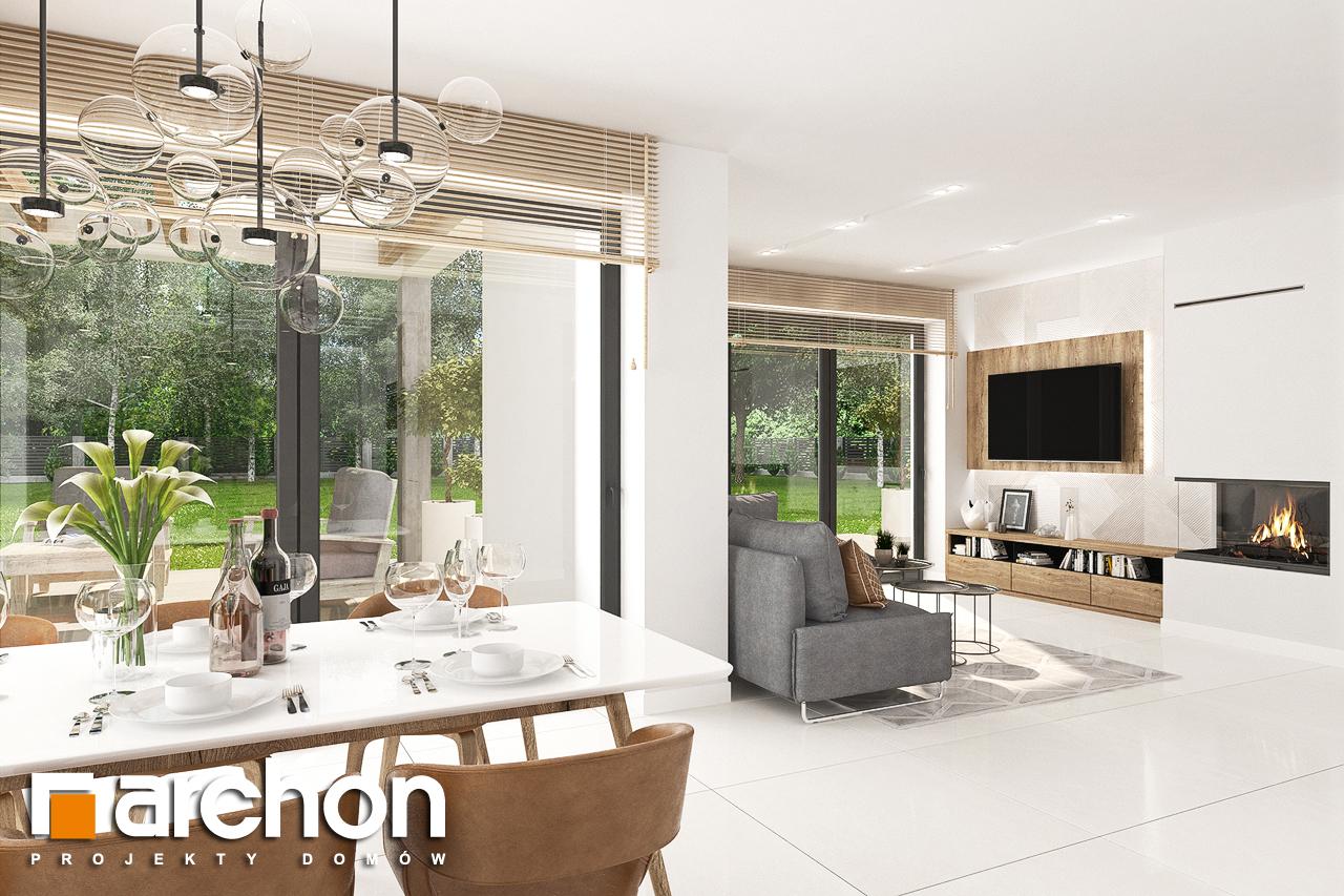 Проект будинку ARCHON+ Будинок у телімах (Г) денна зона (візуалізація 1 від 6)