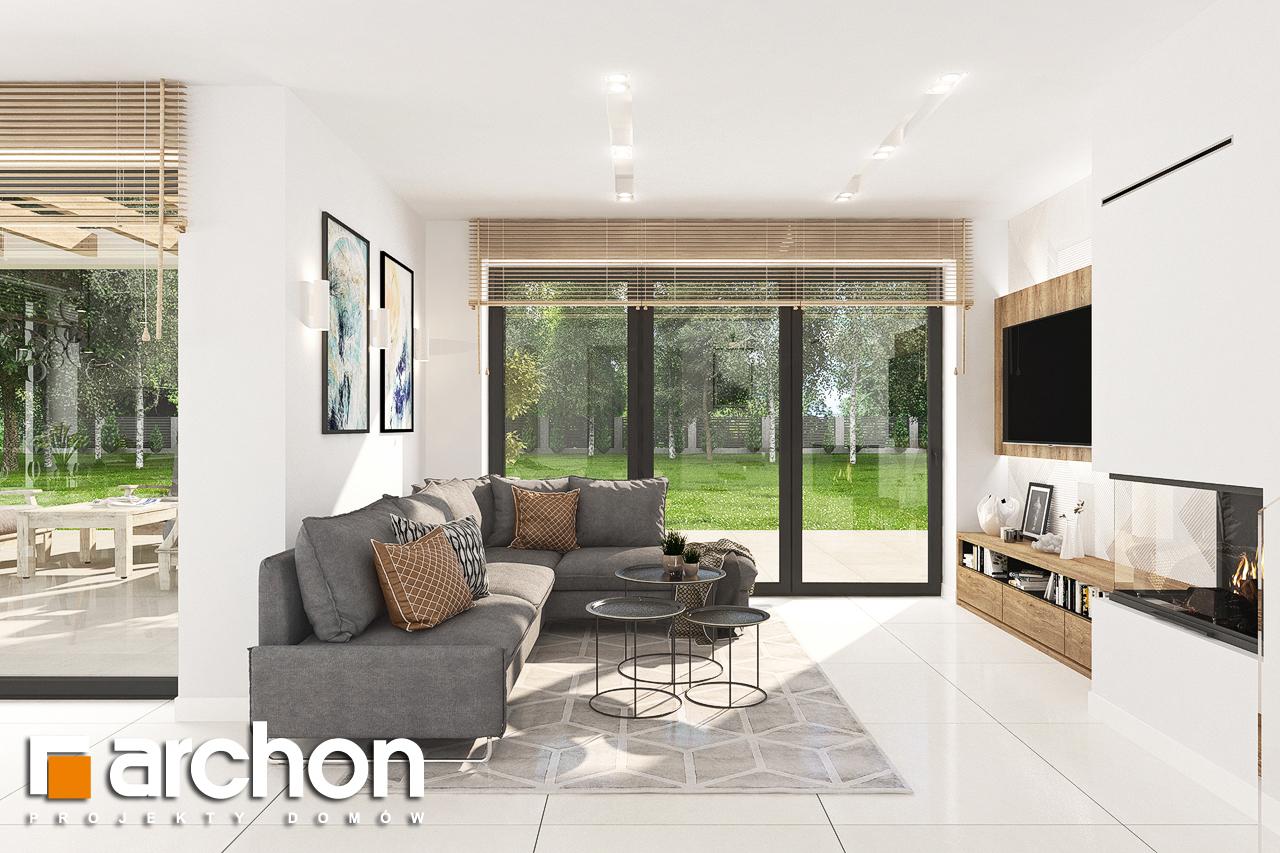 Проект дома ARCHON+ Дом в теллимах (Г) дневная зона (визуализация 1 вид 1)