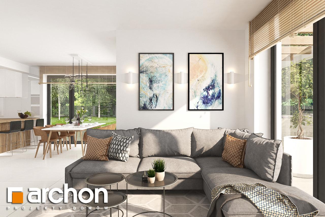 Проект дома ARCHON+ Дом в теллимах (Г) дневная зона (визуализация 1 вид 5)
