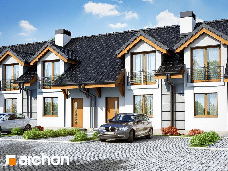 Проект будинку ARCHON+ Будинок під гінко вер.2 візуалізація усіх сегментів