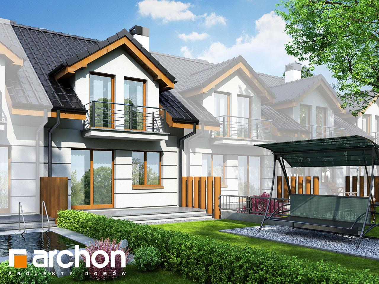 Проект будинку ARCHON+ Будинок під гінко вер.2 Вид 2