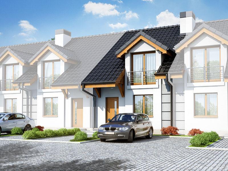 Проект будинку ARCHON+ Будинок під гінко вер.2 Вид 1