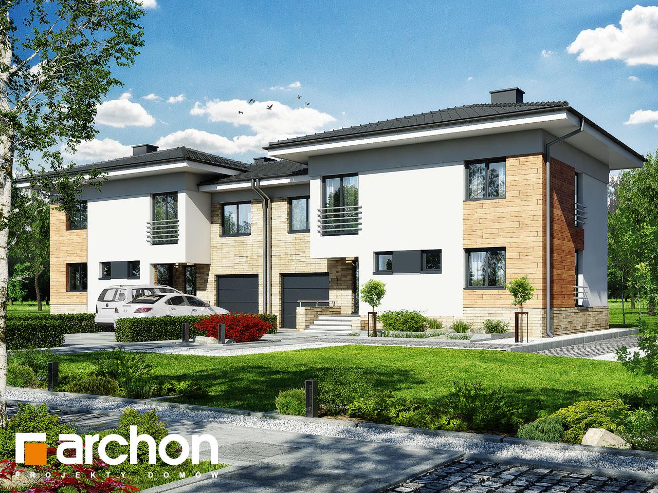 Проект будинку ARCHON+ Будинок в мирті 3 (B) вер.3 візуалізація усіх сегментів
