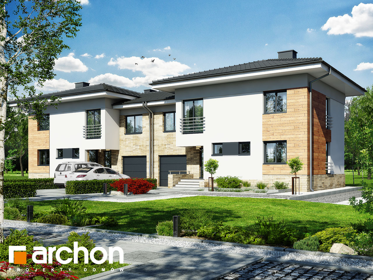 Проект дома ARCHON+ Дом в мирте 3 (B) вер.3 візуалізація усіх сегментів