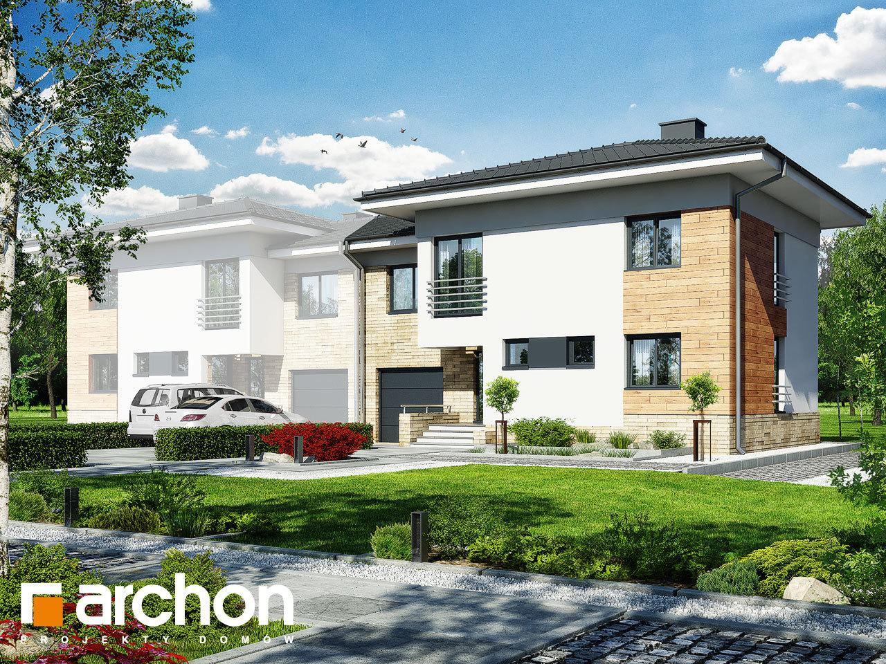 Проект будинку ARCHON+ Будинок в мирті 3 (B) вер.3