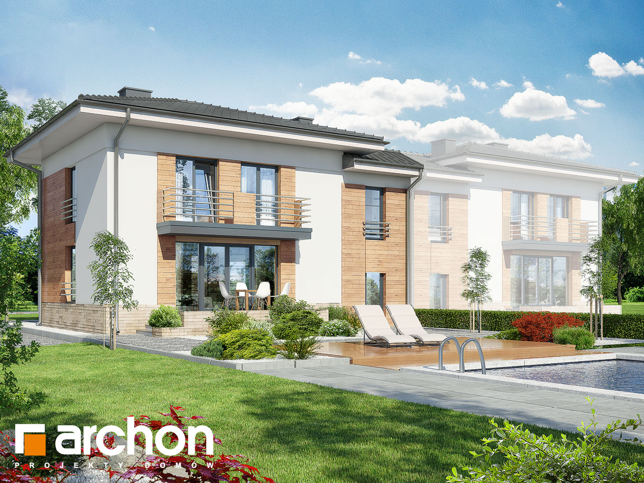 Проект будинку ARCHON+ Будинок в мирті 3 (B) вер.3 Вид 2