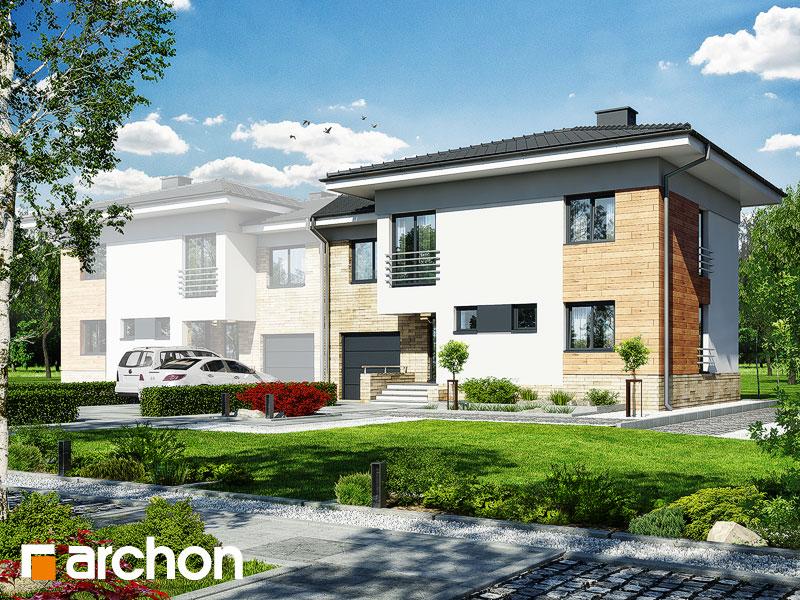 Проект будинку ARCHON+ Будинок в мирті 3 (B) вер.3 Вид 1