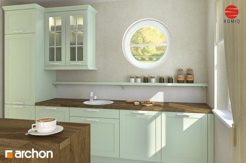 Проект будинку ARCHON+ Будинок в мандаринках (Т)  аранжування кухні 1 від 2