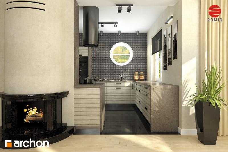 Проект будинку ARCHON+ Будинок в мандаринках (Т)  аранжування кухні 2 від 1