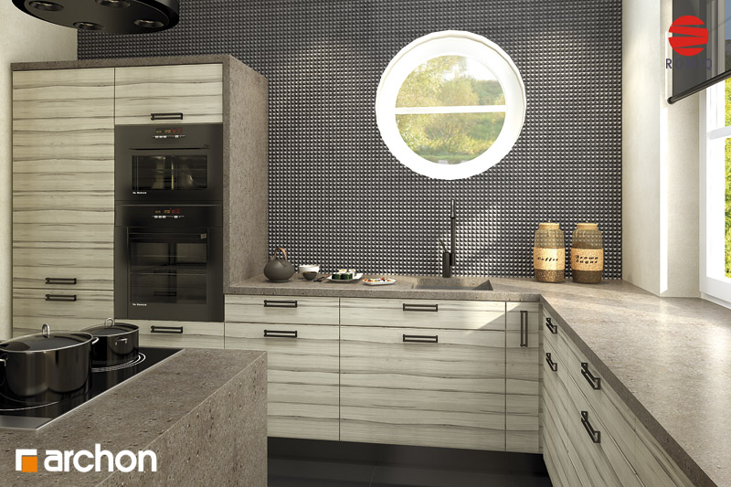 Проект будинку ARCHON+ Будинок в мандаринках (Т)  аранжування кухні 2 від 2