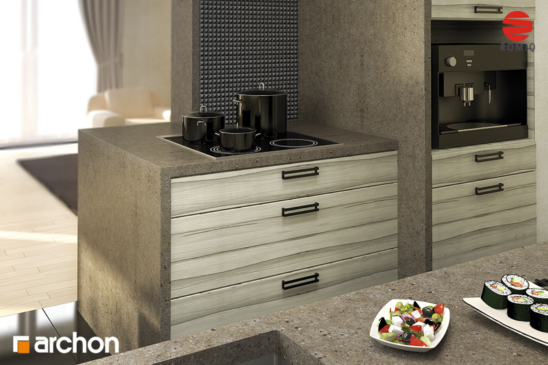 Проект будинку ARCHON+ Будинок в мандаринках (Т)  аранжування кухні 2 від 3