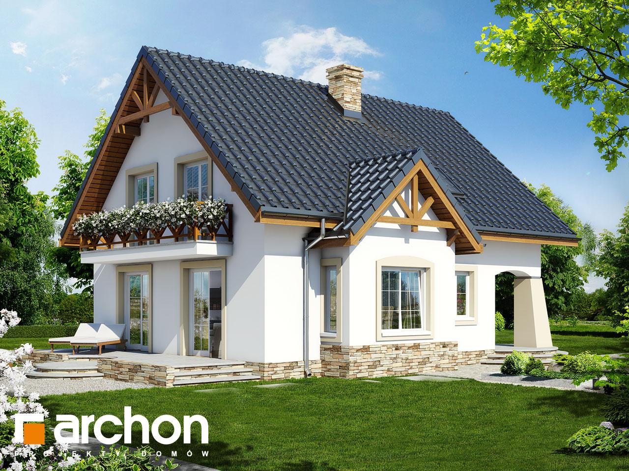 Проект будинку ARCHON+ Будинок в мандаринках (Т)  Вид 2