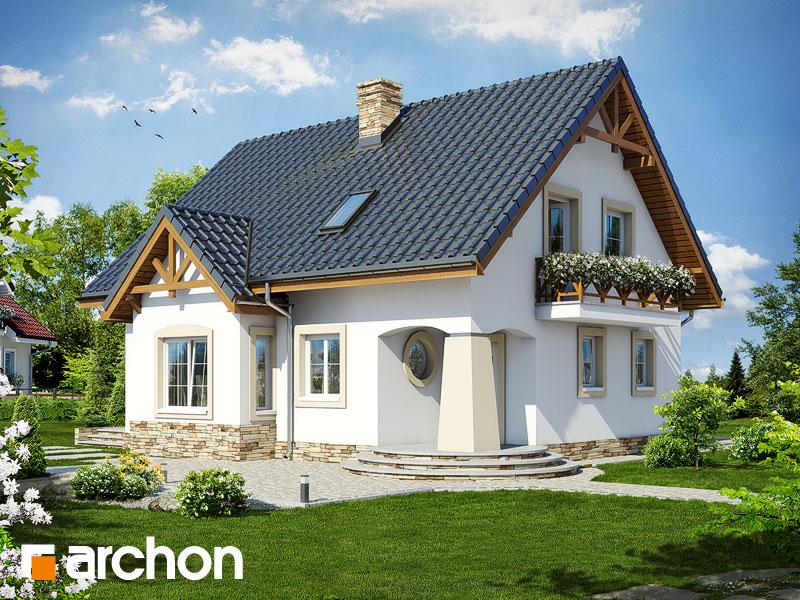 Проект будинку ARCHON+ Будинок в мандаринках (Т)  Вид 1