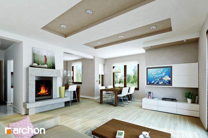 Проект будинку ARCHON+ Будинок в мандаринках (Т)  денна зона (візуалізація 1 від 1)