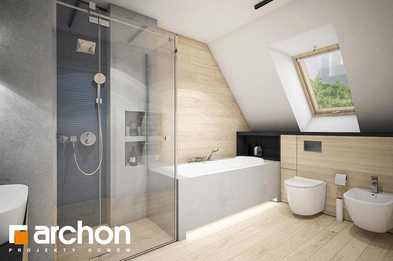 Проект дома ARCHON+ Дом в зефирантесе 2 (Г2) визуализация ванной (визуализация 3 вид 1)