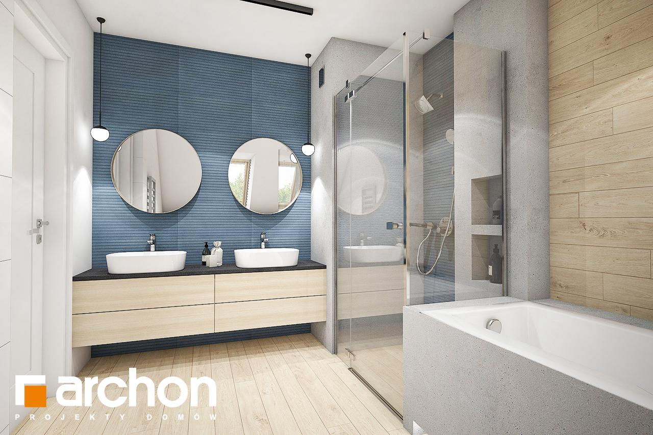 Проект дома ARCHON+ Дом в зефирантесе 2 (Г2) визуализация ванной (визуализация 3 вид 2)