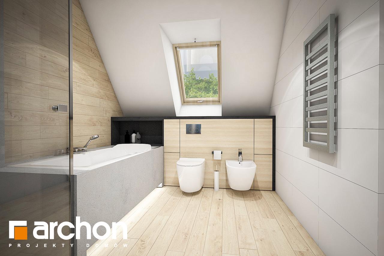 Проект дома ARCHON+ Дом в зефирантесе 2 (Г2) визуализация ванной (визуализация 3 вид 3)