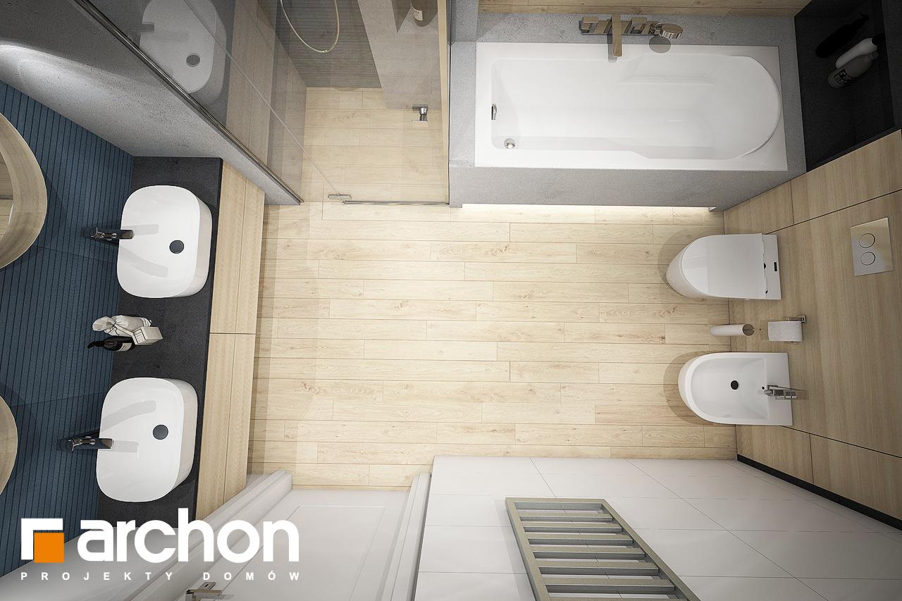 Проект дома ARCHON+ Дом в зефирантесе 2 (Г2) визуализация ванной (визуализация 3 вид 4)