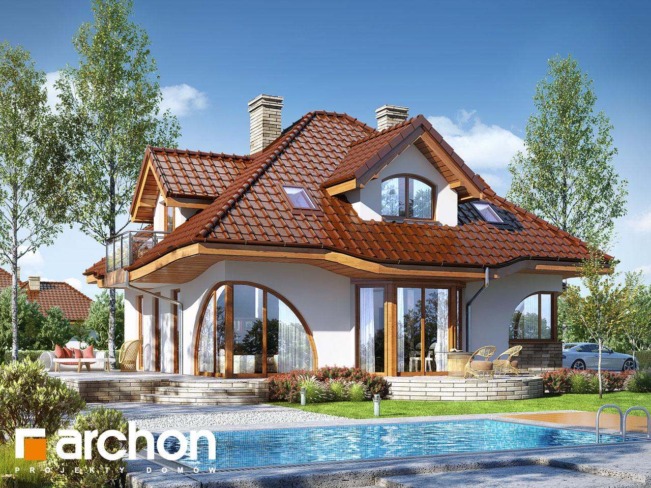 Проект будинку ARCHON+ Будинок в зефірантесі 2 (Г2) Вид 2
