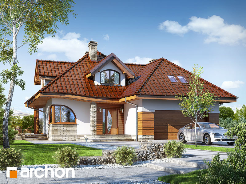Проект дома ARCHON+ Дом в зефирантесе 2 (Г2) Вид 1