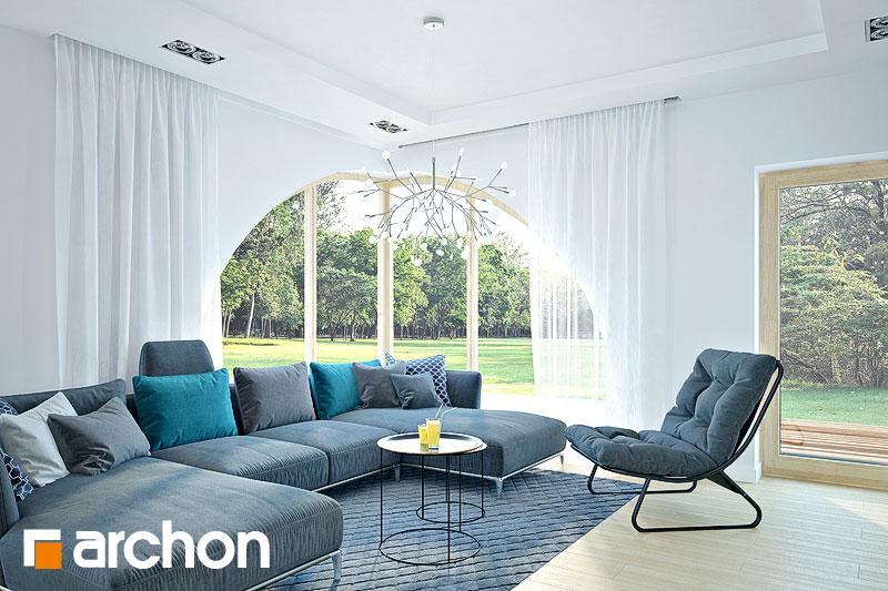 Проект будинку ARCHON+ Будинок в зефірантесі 2 (Г2) денна зона (візуалізація 1 від 3)
