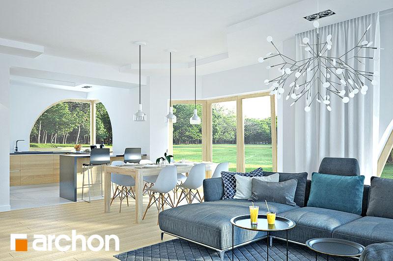 Проект будинку ARCHON+ Будинок в зефірантесі 2 (Г2) денна зона (візуалізація 1 від 4)