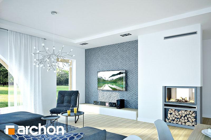 Проект дома ARCHON+ Дом в зефирантесе 2 (Г2) дневная зона (визуализация 1 вид 1)