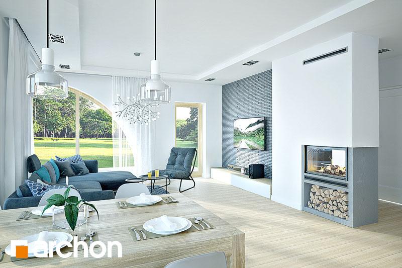 Проект дома ARCHON+ Дом в зефирантесе 2 (Г2) дневная зона (визуализация 1 вид 2)