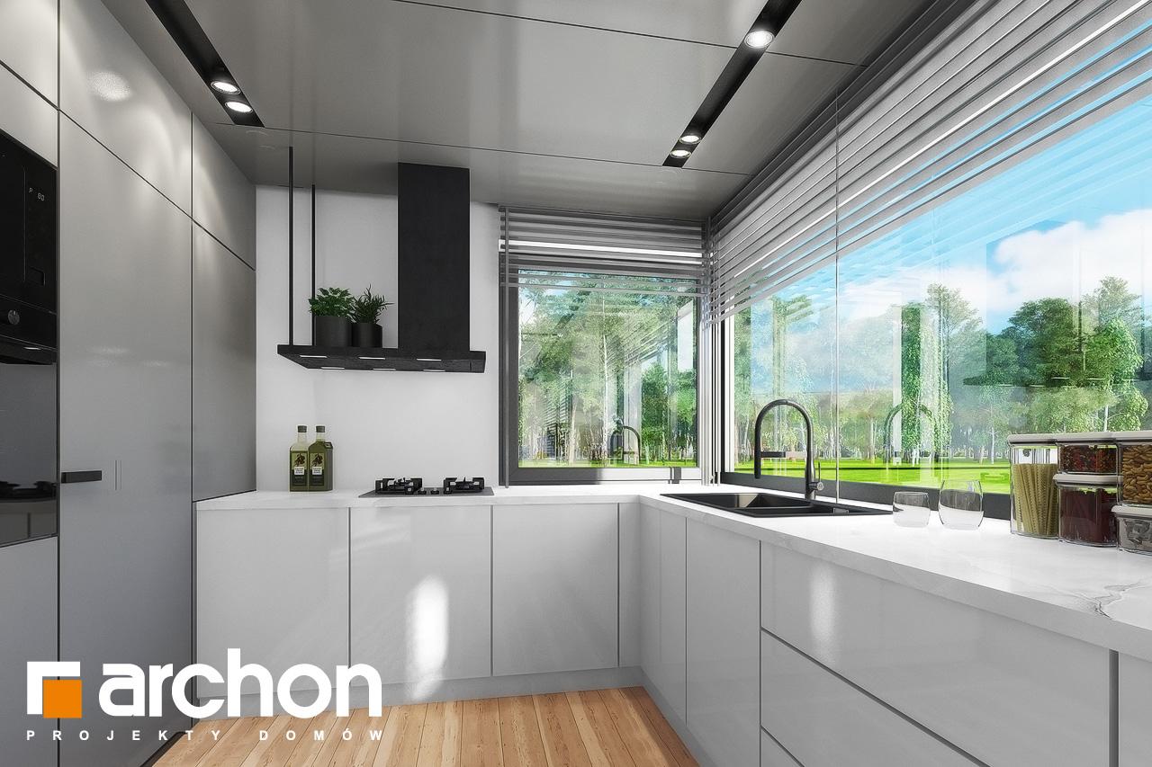 Проект дома ARCHON+ Дом в мекинтошах 9 (Г) визуализация кухни 1 вид 1