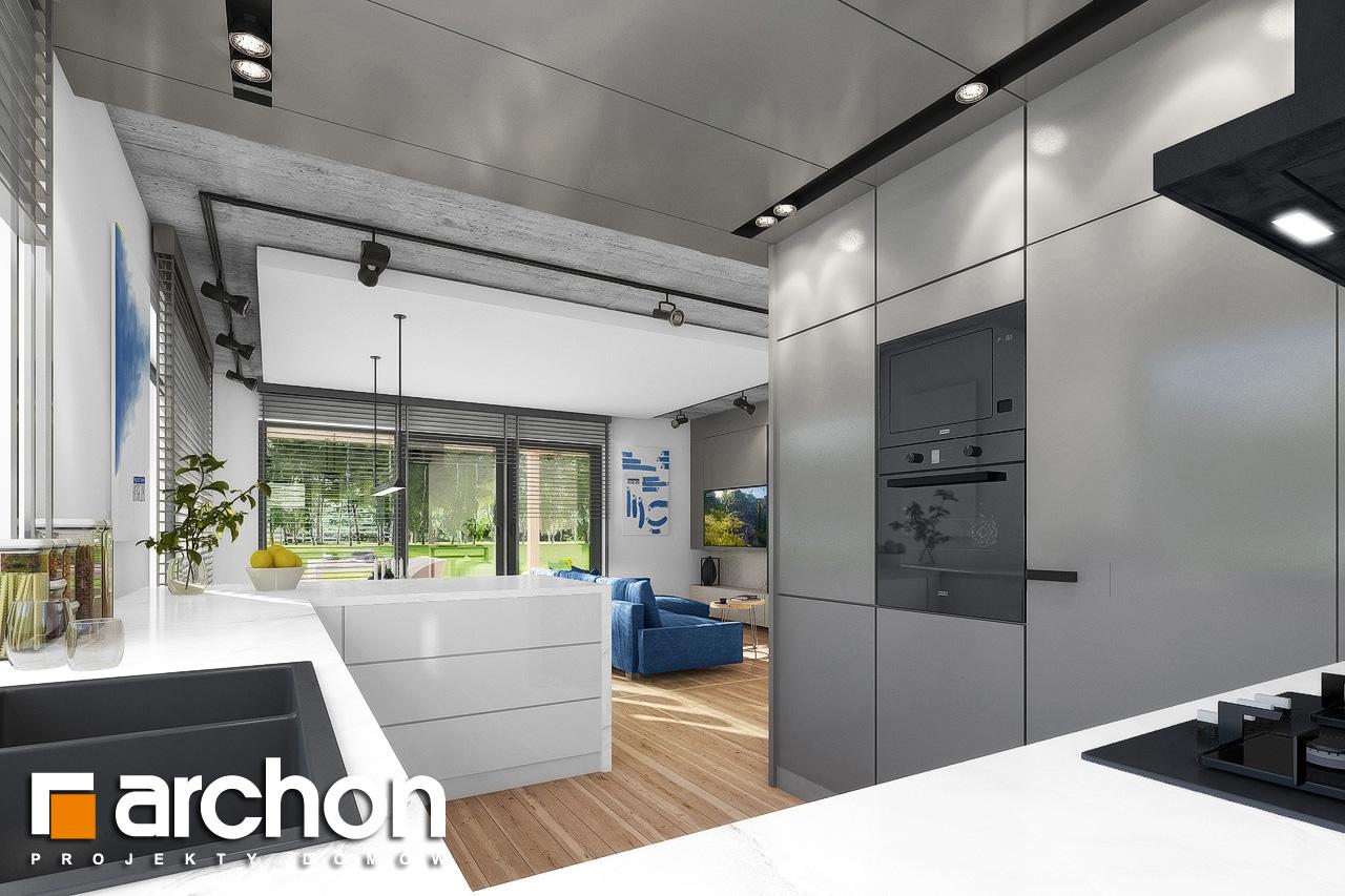 Проект дома ARCHON+ Дом в мекинтошах 9 (Г) визуализация кухни 1 вид 2