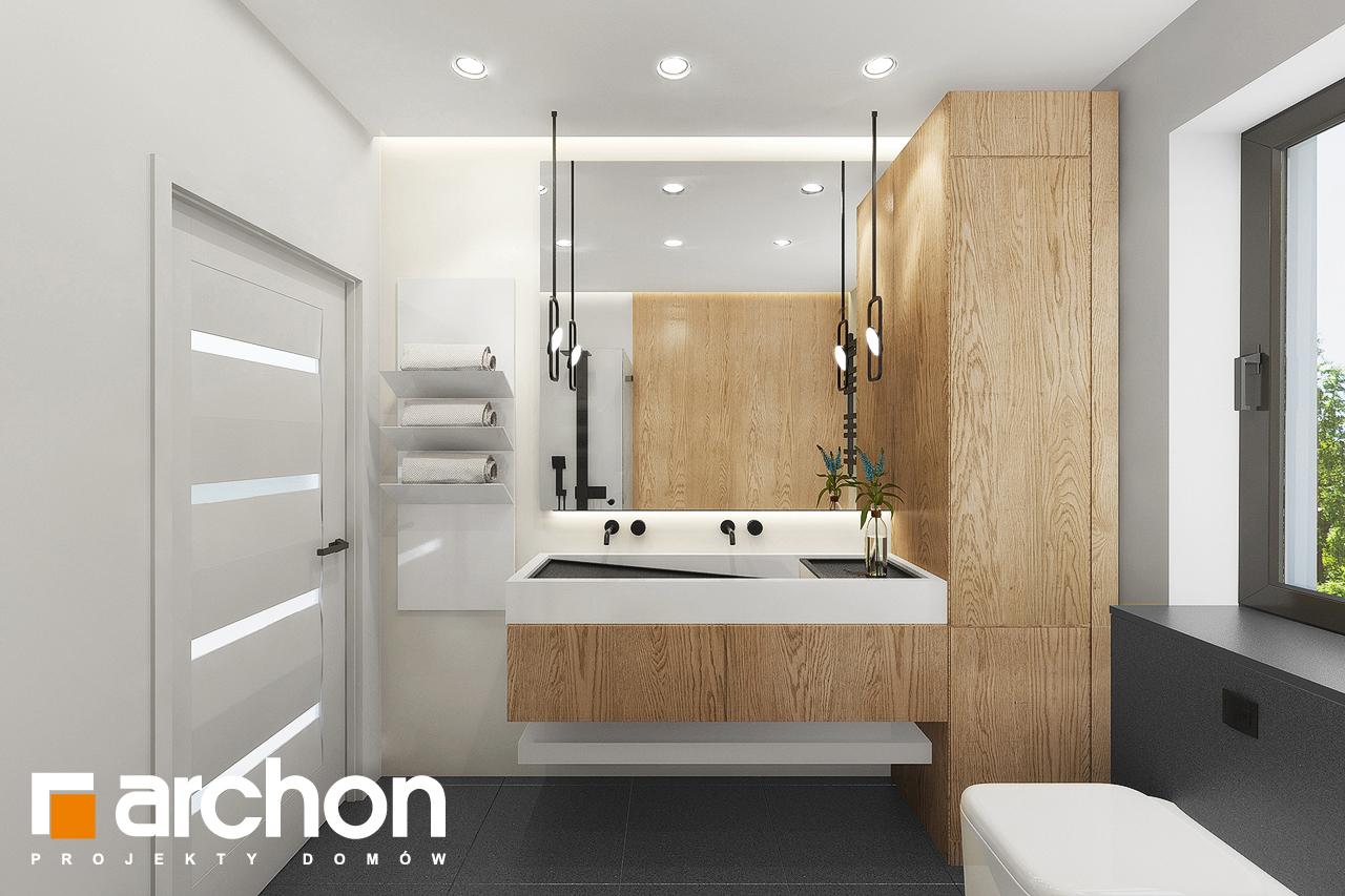 Проект дома ARCHON+ Дом в мекинтошах 9 (Г) визуализация ванной (визуализация 3 вид 1)