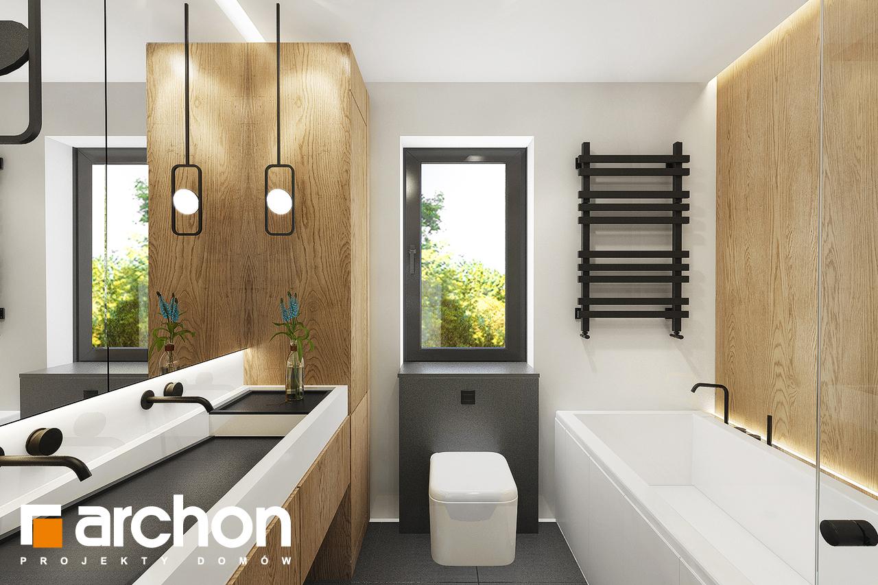 Проект дома ARCHON+ Дом в мекинтошах 9 (Г) визуализация ванной (визуализация 3 вид 2)