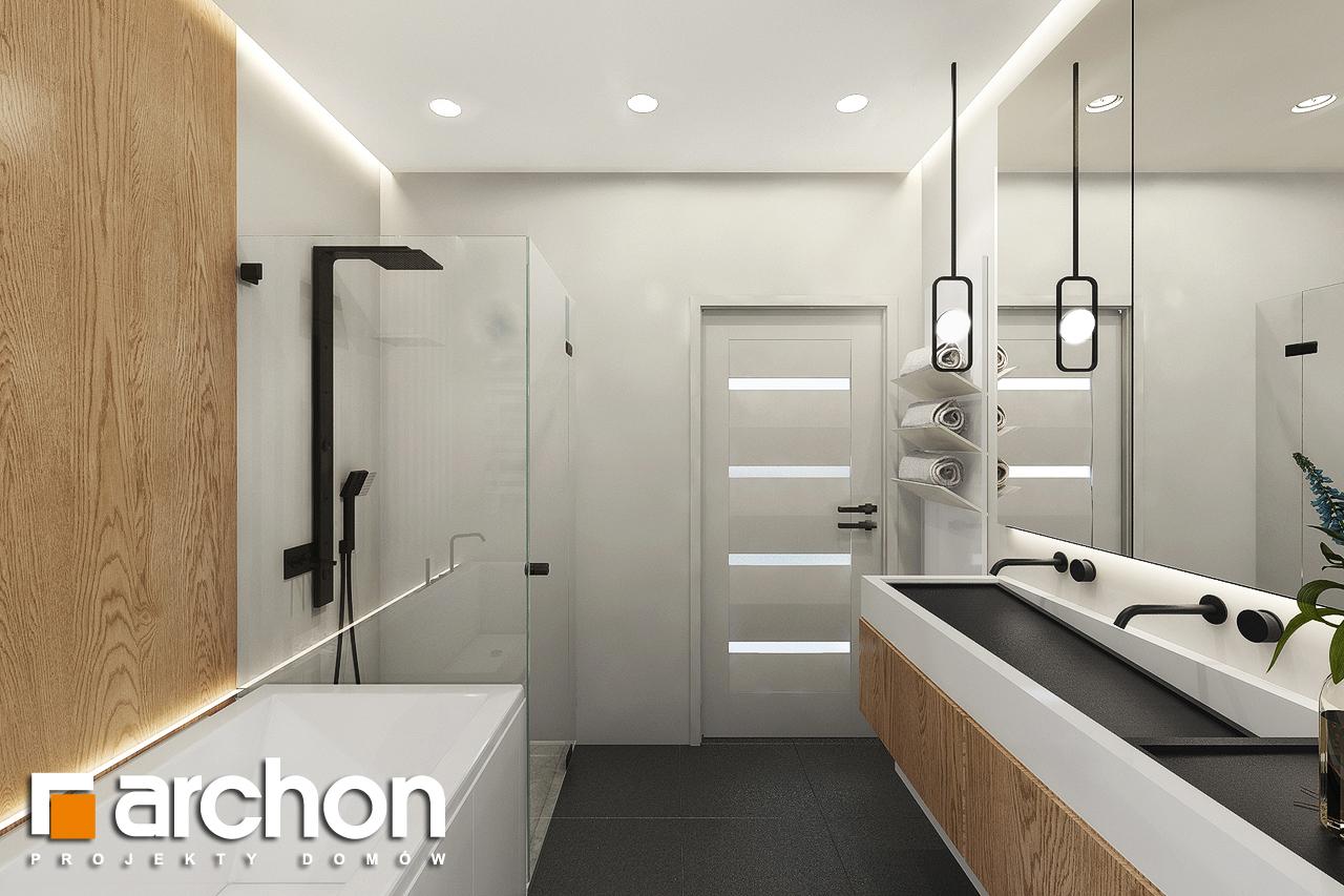 Проект дома ARCHON+ Дом в мекинтошах 9 (Г) визуализация ванной (визуализация 3 вид 3)