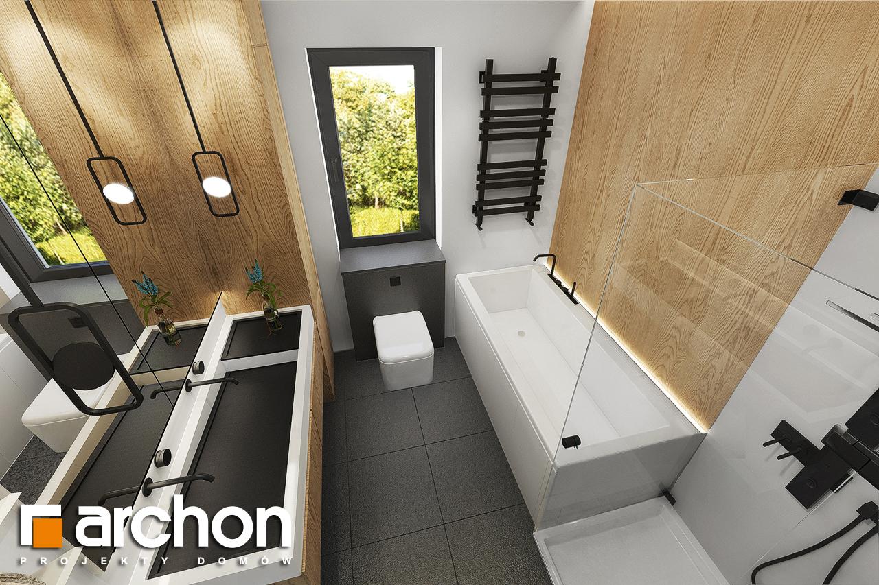 Проект дома ARCHON+ Дом в мекинтошах 9 (Г) визуализация ванной (визуализация 3 вид 4)