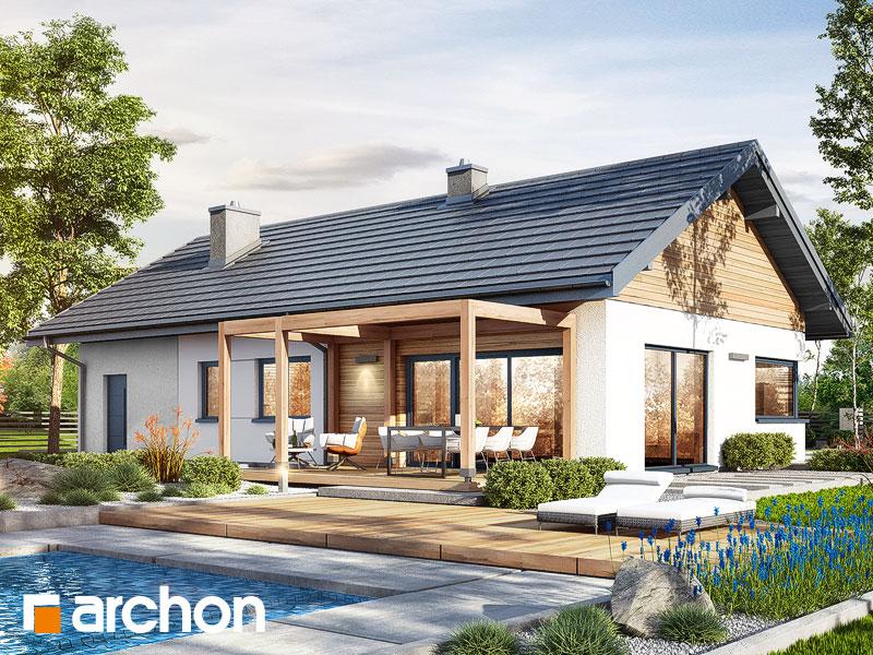 Проект дома ARCHON+ Дом в мекинтошах 9 (Г) Вид 1