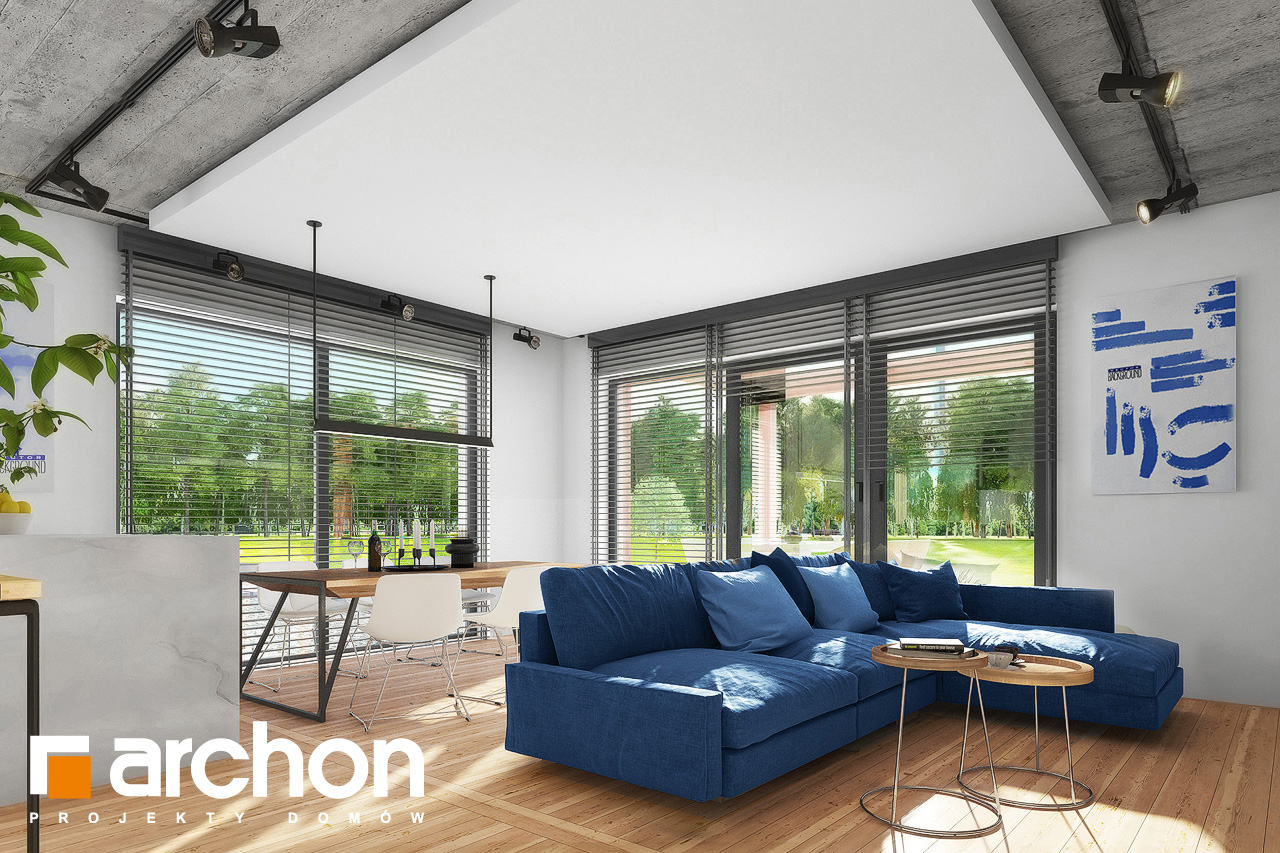 Проект будинку ARCHON+ Будинок в мекінтошах 9 (Г) денна зона (візуалізація 1 від 3)
