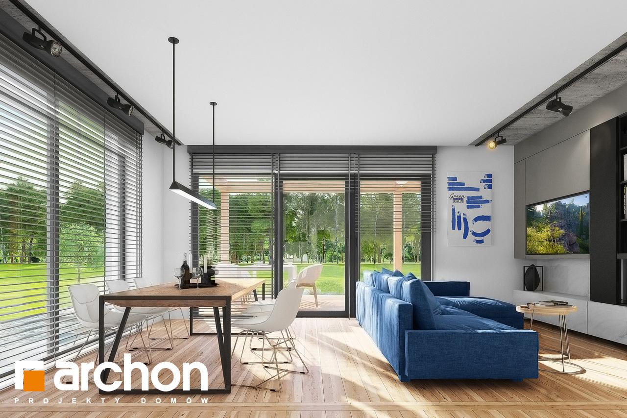 Проект дома ARCHON+ Дом в мекинтошах 9 (Г) дневная зона (визуализация 1 вид 1)