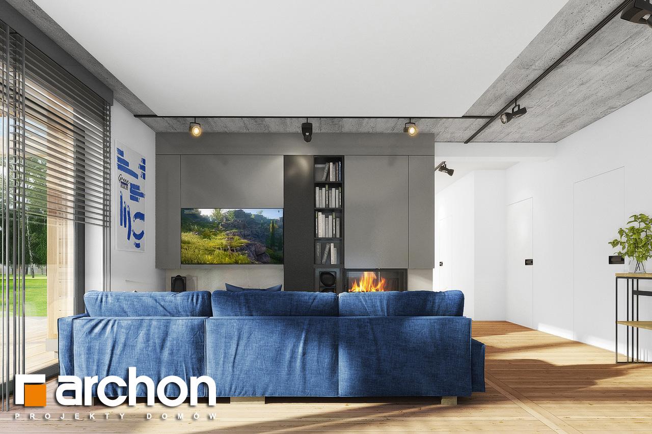 Проект дома ARCHON+ Дом в мекинтошах 9 (Г) дневная зона (визуализация 1 вид 2)